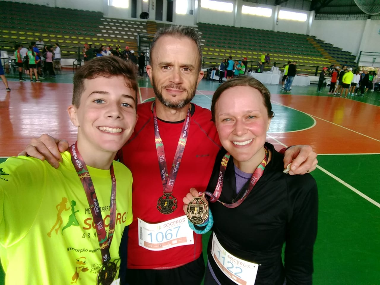Ans, Anderson, Dad post race Gramado